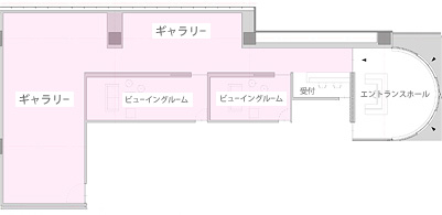 Kaikai Kiki Gallery Taipei見取り図